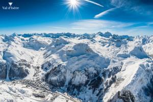 Vue aérienne de Val d'Isère