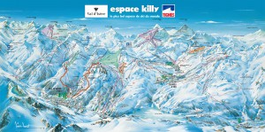 """Map of the """"Espace Killy"""""""