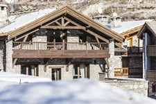 Val d'isère, a chalet from the exterior